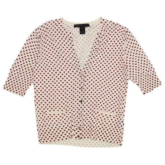 Marc By Marc Jacobs Sweaters - Marc by Marc Jacobs Heart Print Sweater Cardigan